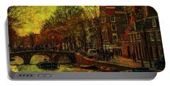 I Amsterdam. Vintage Amsterdam In Golden Light Portable Battery Charger