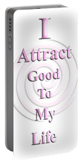 I Attract Pink Portable Battery Charger