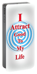 I Attract Red White Blue Portable Battery Charger