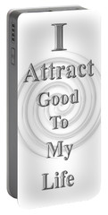 I Attract Silver Portable Battery Charger