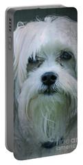 I Can Explain - Dog Mania Print Portable Battery Charger by Ella Kaye Dickey