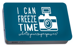 Portable Battery Charger featuring the photograph I Can Freeze Time by Heather Applegate