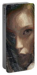 Portable Battery Charger featuring the digital art I Can See by Rafael Salazar