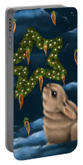 Portable Battery Charger featuring the painting I Can Smell The Christmas In The Air by Veronica Minozzi