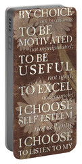 I Choose... Portable Battery Charger by Debbie DeWitt