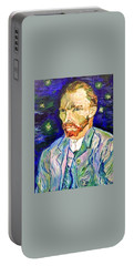 Portable Battery Charger featuring the painting I Dream My Painting And I Paint My Dream by Belinda Low
