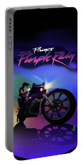 I Grew Up With Purplerain Portable Battery Charger by Nelson dedos Garcia