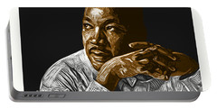 Portable Battery Charger featuring the digital art I Have A Dream . . . by Antonio Romero