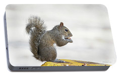 Portable Battery Charger featuring the photograph I Have My Nuts by Deborah Benoit