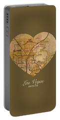 I Heart Las Vegas Nevada Vintage City Street Map Americana Series No 023 Portable Battery Charger