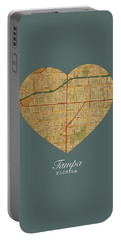 I Heart Tampa Florida Street Map Love Americana Series No 072 Portable Battery Charger