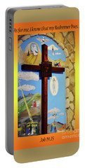 Portable Battery Charger featuring the photograph I Know My Redeemer Lives by Debby Pueschel