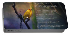 I Know Why The Caged Bird Sings By Maya Angelou Portable Battery Charger