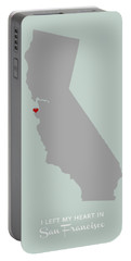 Portable Battery Charger featuring the digital art I Left My Heart In Sf by Nancy Ingersoll
