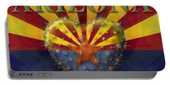 I Love Arizona Flag Portable Battery Charger