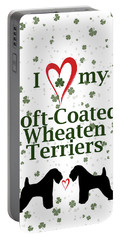 I Love My Soft Coated Wheaten Terriers Portable Battery Charger