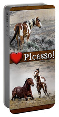 I Love Picasso Collage Portable Battery Charger