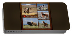 I Love Wild Horses Of Sand Wash Basin Portable Battery Charger