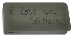I Love You Portable Battery Charger by Bob Hislop