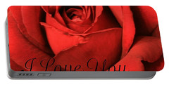 I Love You Portable Battery Charger by Marna Edwards Flavell