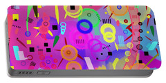 Portable Battery Charger featuring the digital art I Once Was Happy by Silvia Ganora