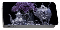 I Polished My Silver For You Portable Battery Charger by Sandra Foster
