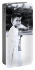 Portable Battery Charger featuring the photograph I Rule The Beach by Jez C Self
