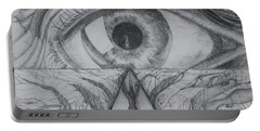 Portable Battery Charger featuring the drawing I Shadow by Charles Bates
