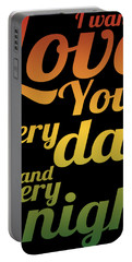 I Wanna Love You Portable Battery Charger