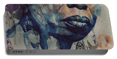 I Wish I Knew How It Would Be  Feel To Be Free Portable Battery Charger by Paul Lovering