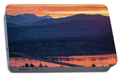 I90 Eastside Sunrise Fire Portable Battery Charger by Mike Reid