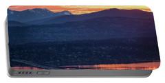 I90 Eastside Sunrise Fire Portable Battery Charger by Mike Reid