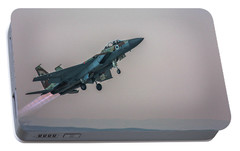 Portable Battery Charger featuring the photograph Iaf F-15i Ra'am by Amos Dor