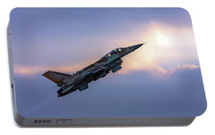 Portable Battery Charger featuring the photograph Iaf F-16i Sufa Nr. 107 by Amos Dor