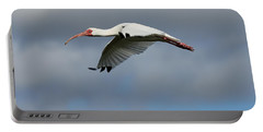 Ibis In Flight Portable Battery Charger by Carol Groenen