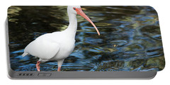 Ibis In The Swamp Portable Battery Charger by Kenneth Albin