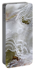 Portable Battery Charger featuring the photograph Ice Abstract by Christina Rollo