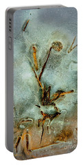 Ice Abstract Portable Battery Charger by Tom Cameron