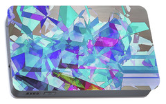 Portable Battery Charger featuring the digital art Ice Age by Wendy J St Christopher
