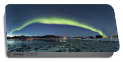 Ice And Northern Lights Portable Battery Charger