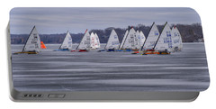 Ice Boat Racing - Madison - Wisconsin Portable Battery Charger