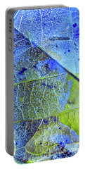 Ice Bubbles And Leaf Lines Portable Battery Charger