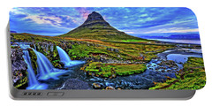 Portable Battery Charger featuring the photograph Ice Falls by Scott Mahon