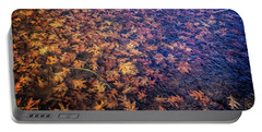 Ice On Oak Leaves Portable Battery Charger