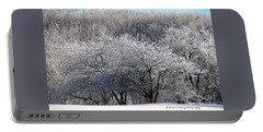 Ice Orchard Portable Battery Charger by Diane E Berry