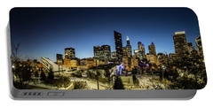 ice ribbon and Chicago Skyline Portable Battery Charger