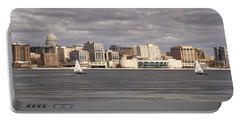 Ice Sailing - Lake Monona - Madison - Wisconsin Portable Battery Charger