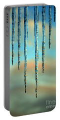 Portable Battery Charger featuring the photograph Ice Sickles - Winter In Switzerland  by Susanne Van Hulst
