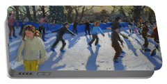 Ice Skaters At Christmas Fayre In Hyde Park  London Portable Battery Charger