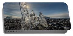 Portable Battery Charger featuring the photograph Ice Spires by Rikk Flohr